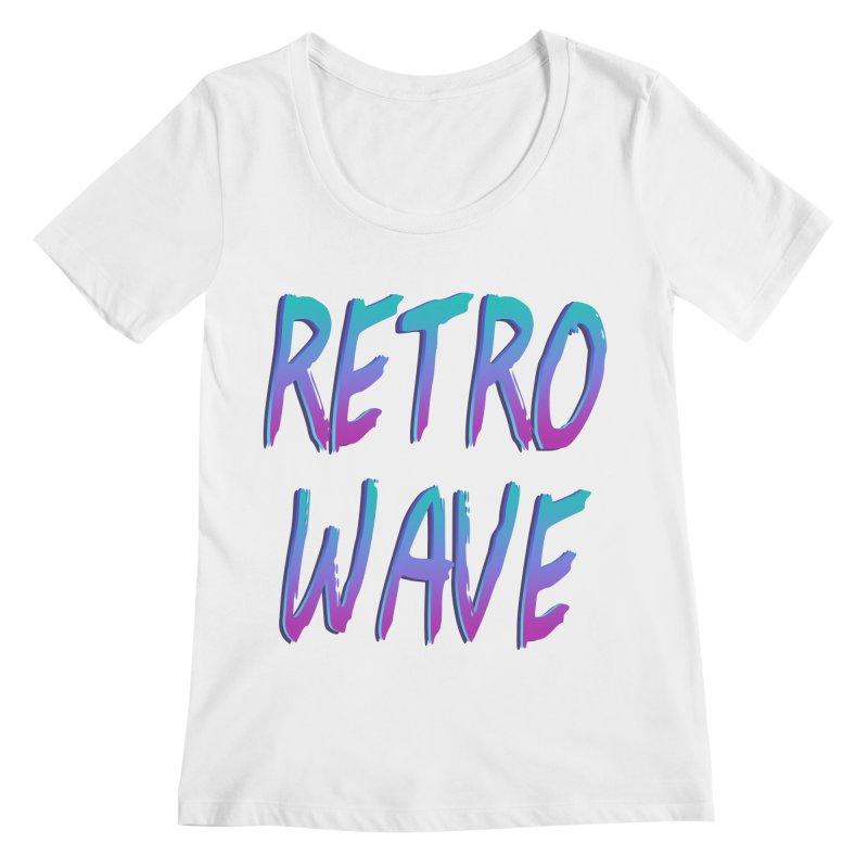 Retrowave Ocean II Women's Scoopneck by Glitchway Store