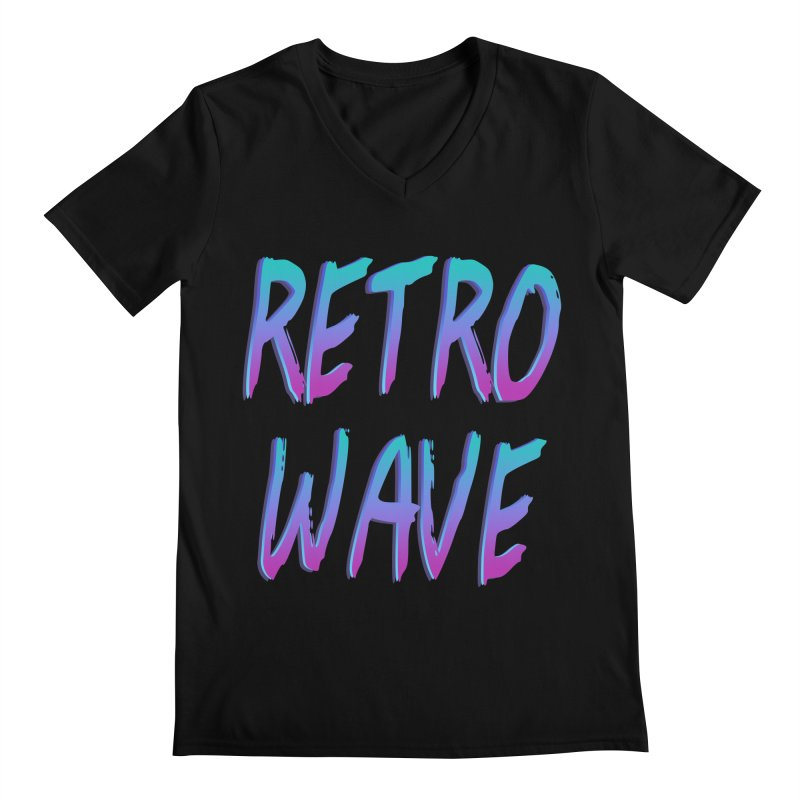 Retrowave Ocean II Men's V-Neck by Glitchway Store