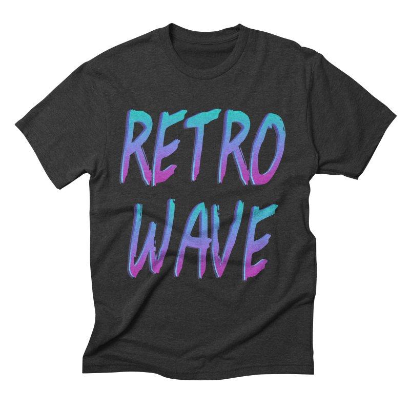 Retrowave Ocean II Men's Triblend T-shirt by Glitchway Store