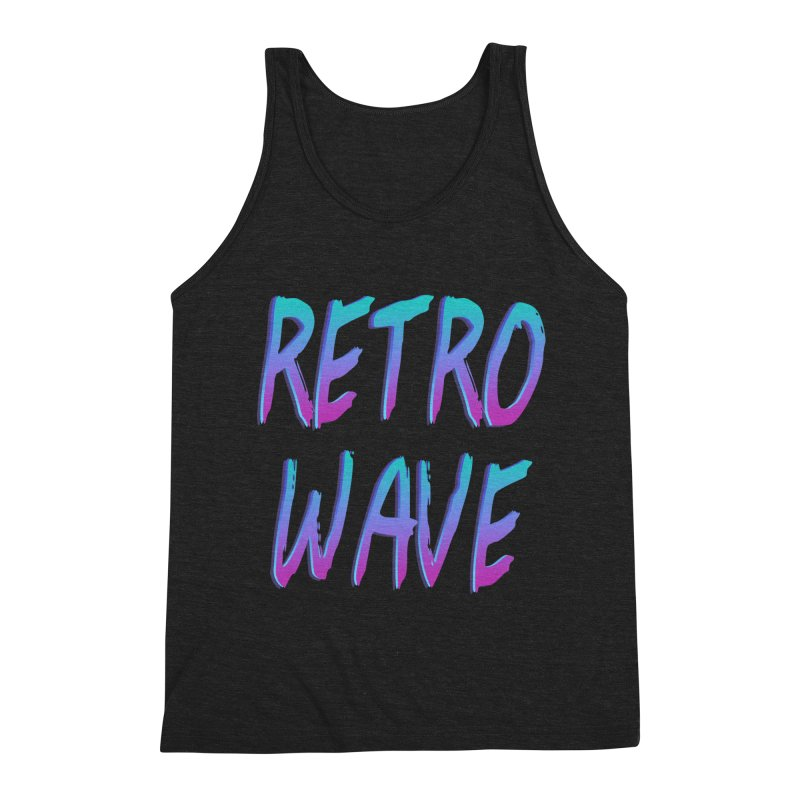 Retrowave Ocean II Men's Tank by The Glitchway