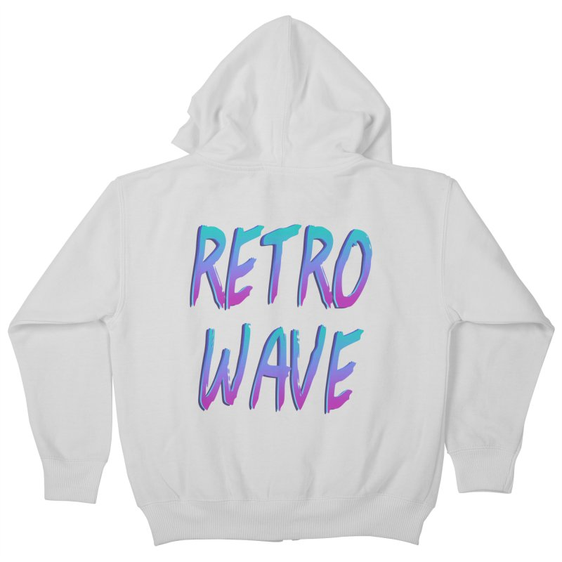Retrowave Ocean II Kids Zip-Up Hoody by Glitchway Store