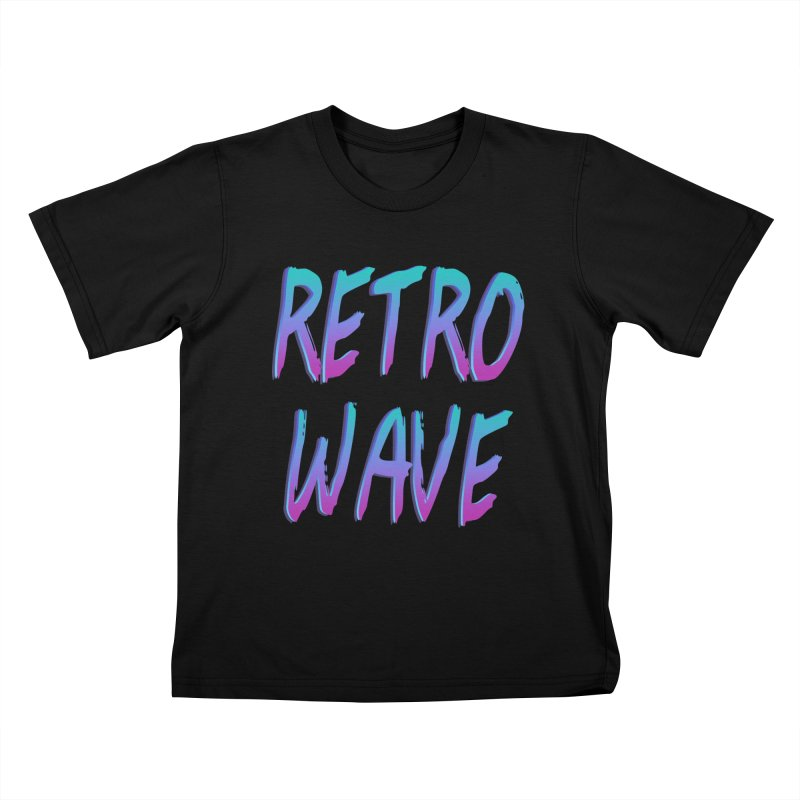 Retrowave Ocean II Kids T-Shirt by The Glitchway