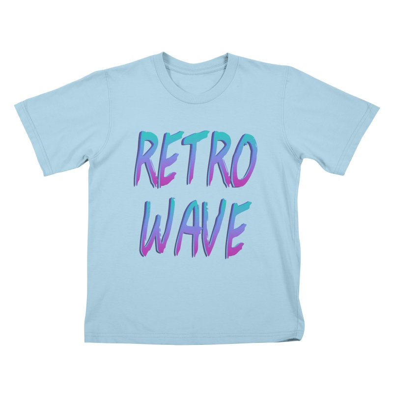 Retrowave Ocean II Kids T-Shirt by Glitchway Store