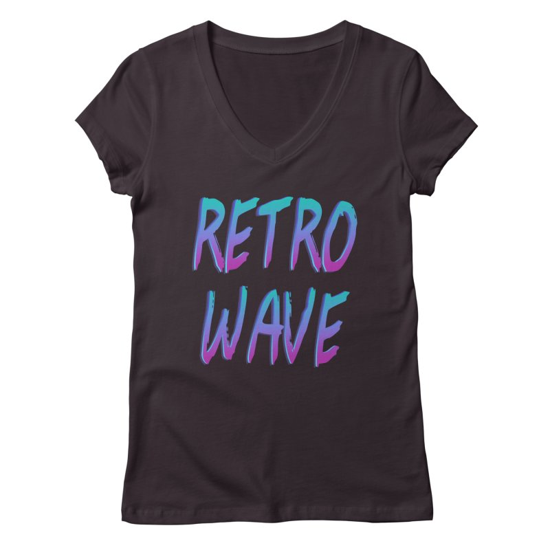 Retrowave Ocean II Women's V-Neck by Glitchway Store