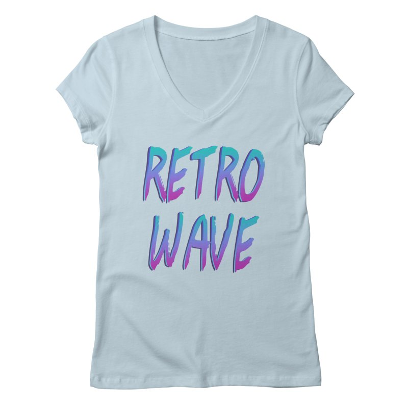 Retrowave Ocean II Women's Regular V-Neck by The Glitchway