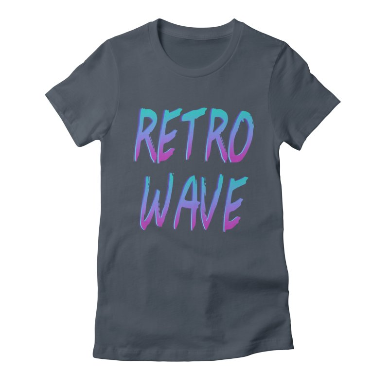 Retrowave Ocean II Women's Fitted T-Shirt by Glitchway Store