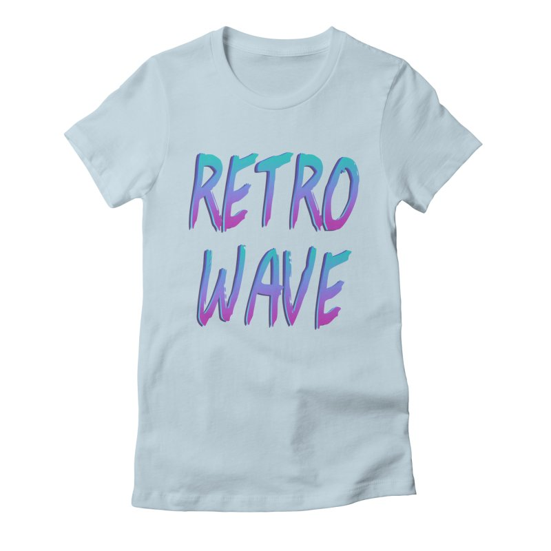Retrowave Ocean II Women's Fitted T-Shirt by The Glitchway