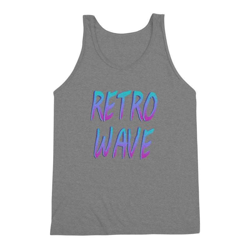 Retrowave Ocean II Men's Triblend Tank by Glitchway Store