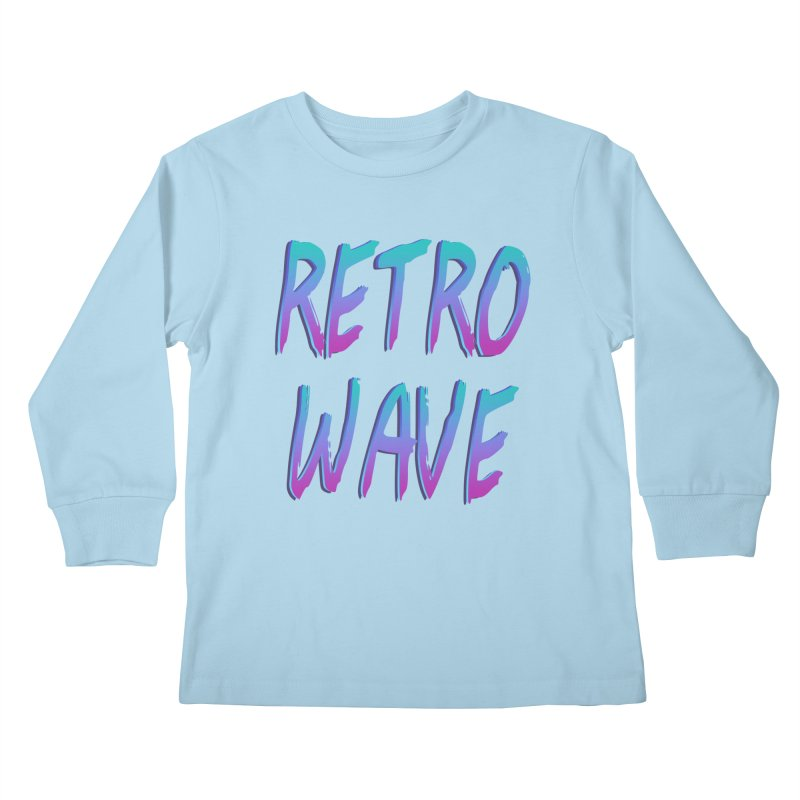 Retrowave Ocean II Kids Longsleeve T-Shirt by The Glitchway