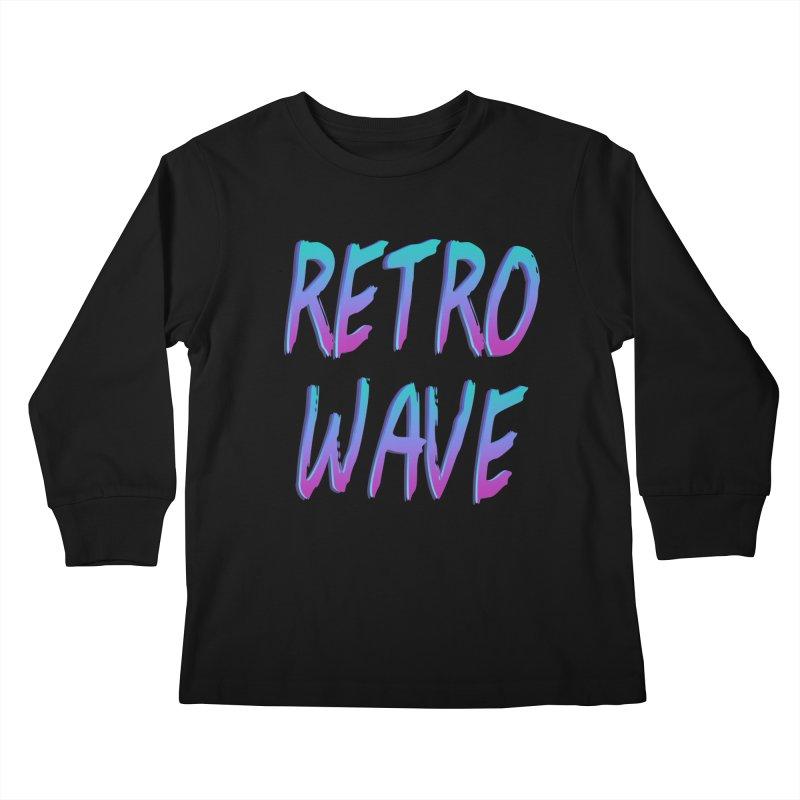 Retrowave Ocean II Kids Longsleeve T-Shirt by Glitchway Store