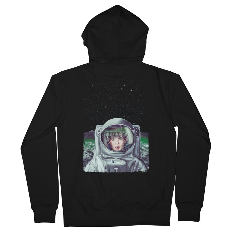 Not Alone Women's Zip-Up Hoody by Glitchway Store