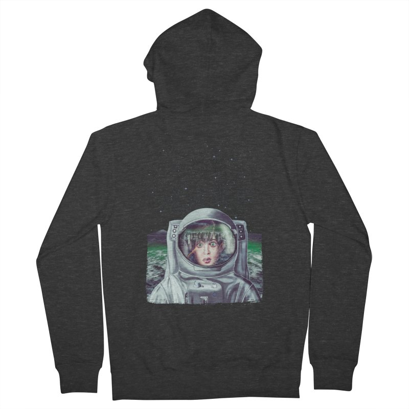 Not Alone Men's Zip-Up Hoody by Glitchway Store