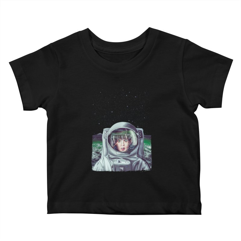 Not Alone Kids Baby T-Shirt by Glitchway Store