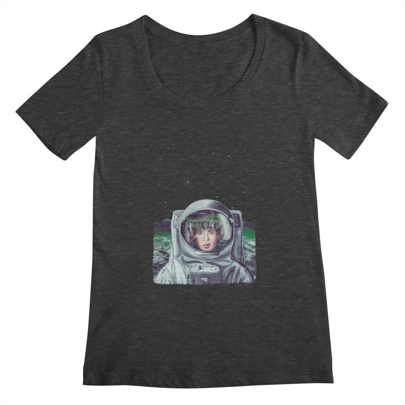 Not Alone Women's Scoopneck by Glitchway Store