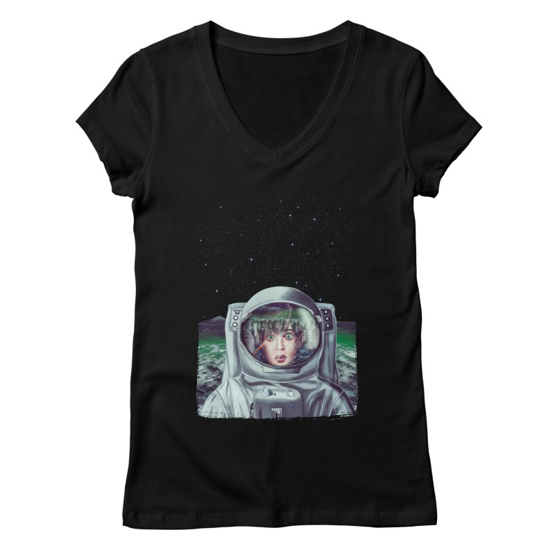 Not Alone Women's V-Neck by Glitchway Store
