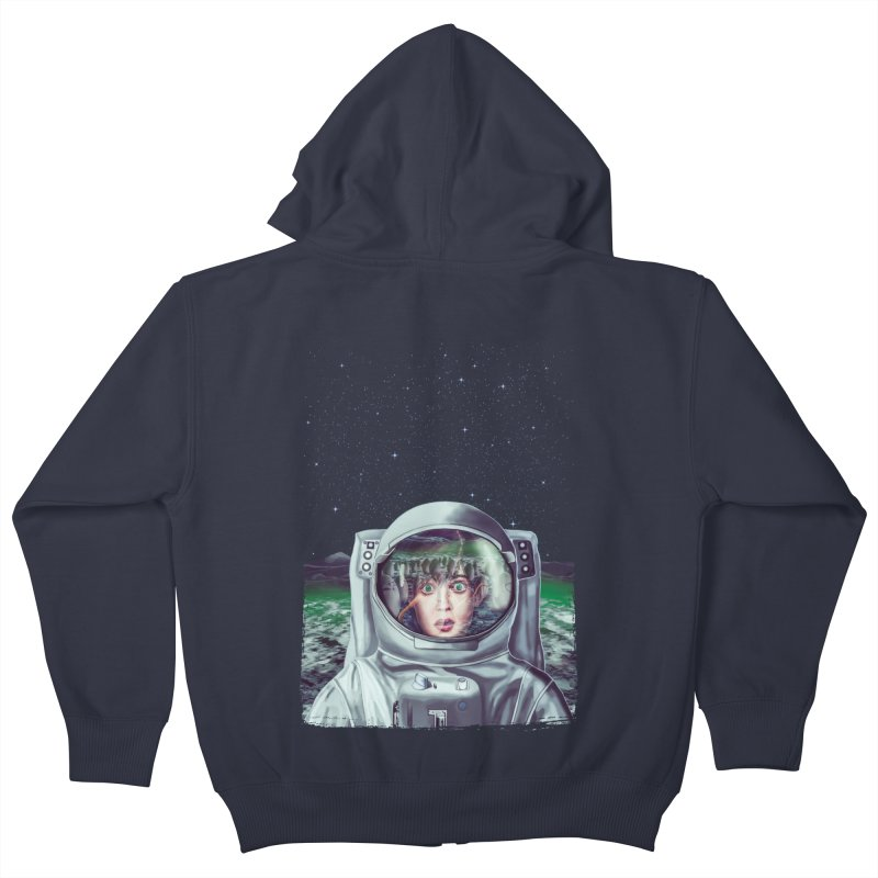 Not Alone Kids Zip-Up Hoody by Glitchway Store