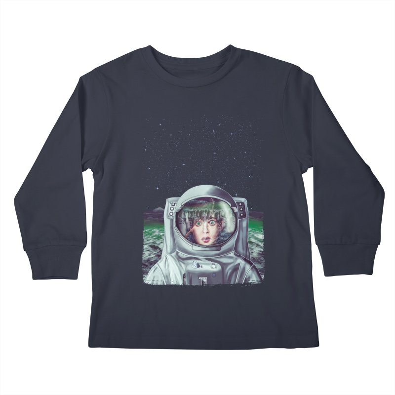 Not Alone Kids Longsleeve T-Shirt by Glitchway Store
