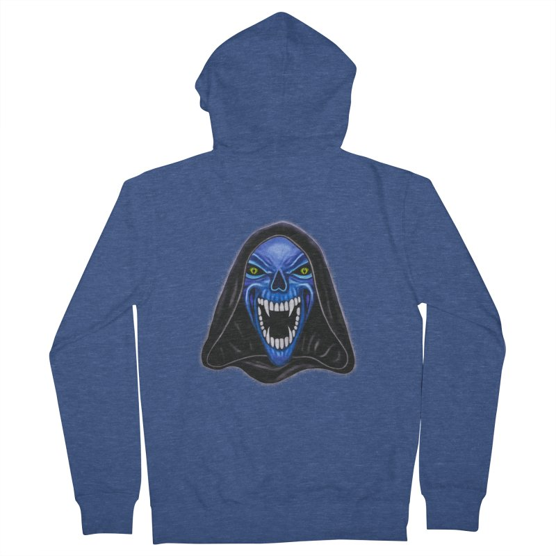 Blue Ghost Women's Zip-Up Hoody by Glitchway Store