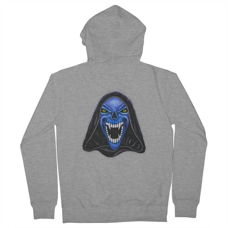 Blue Ghost Men's Zip-Up Hoody by Glitchway Store