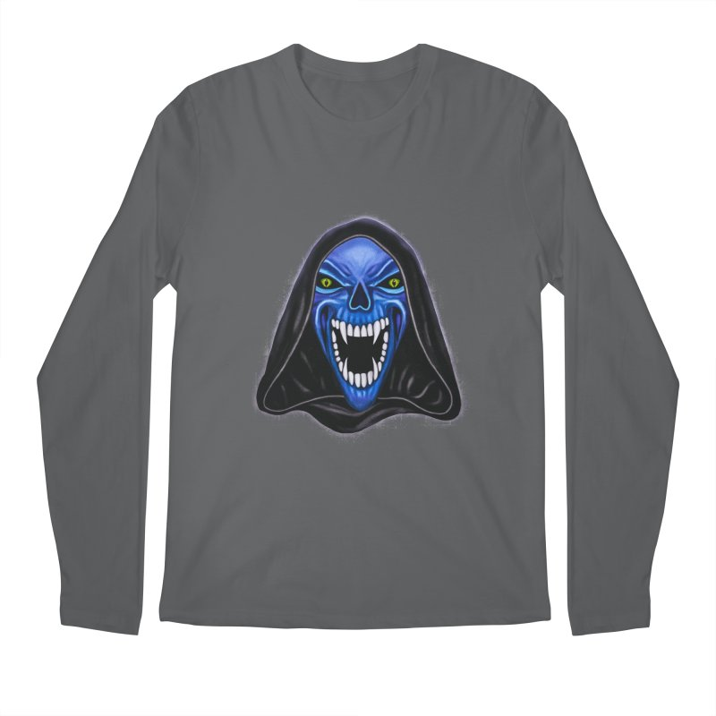 Blue Ghost Men's Longsleeve T-Shirt by Glitchway Store