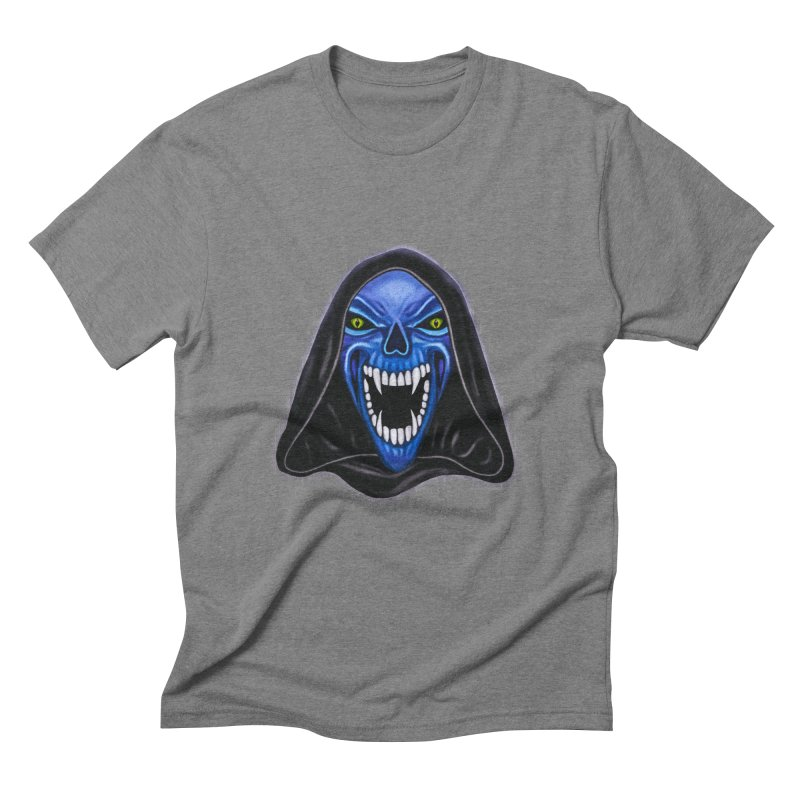 Blue Ghost Men's Triblend T-shirt by Glitchway Store