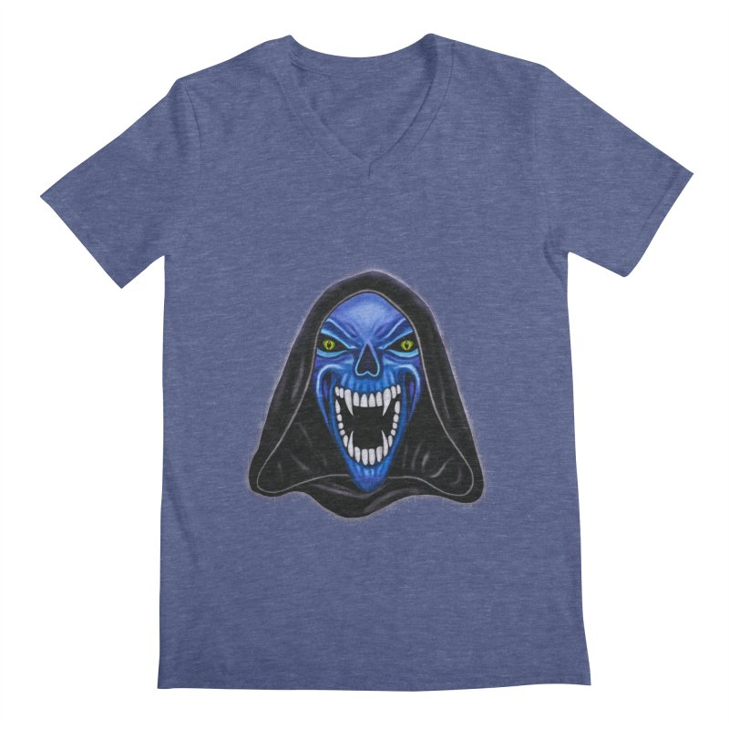 Blue Ghost Men's V-Neck by Glitchway Store
