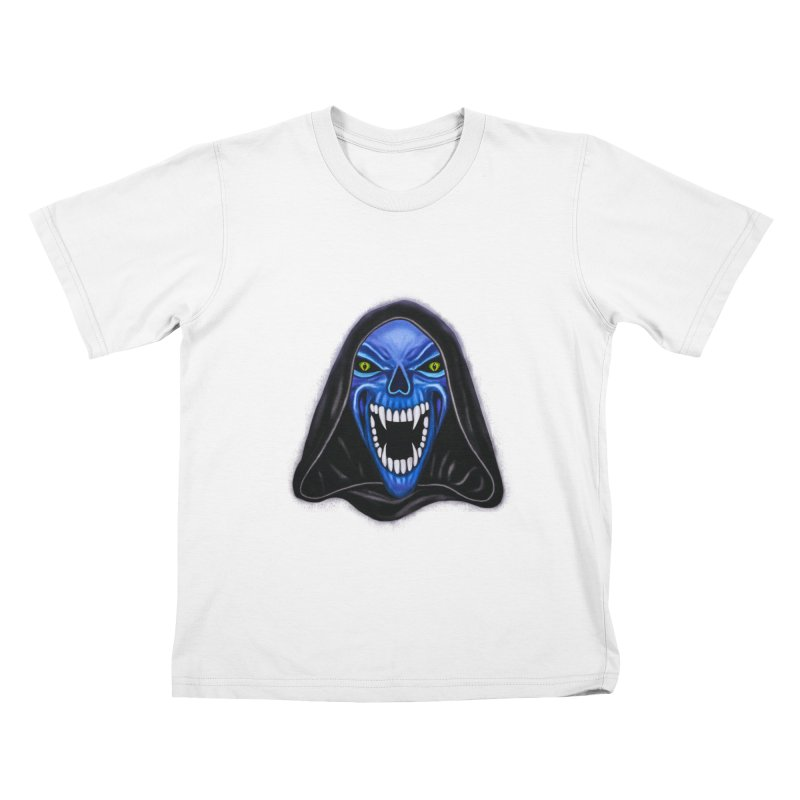 Blue Ghost Kids T-shirt by Glitchway Store