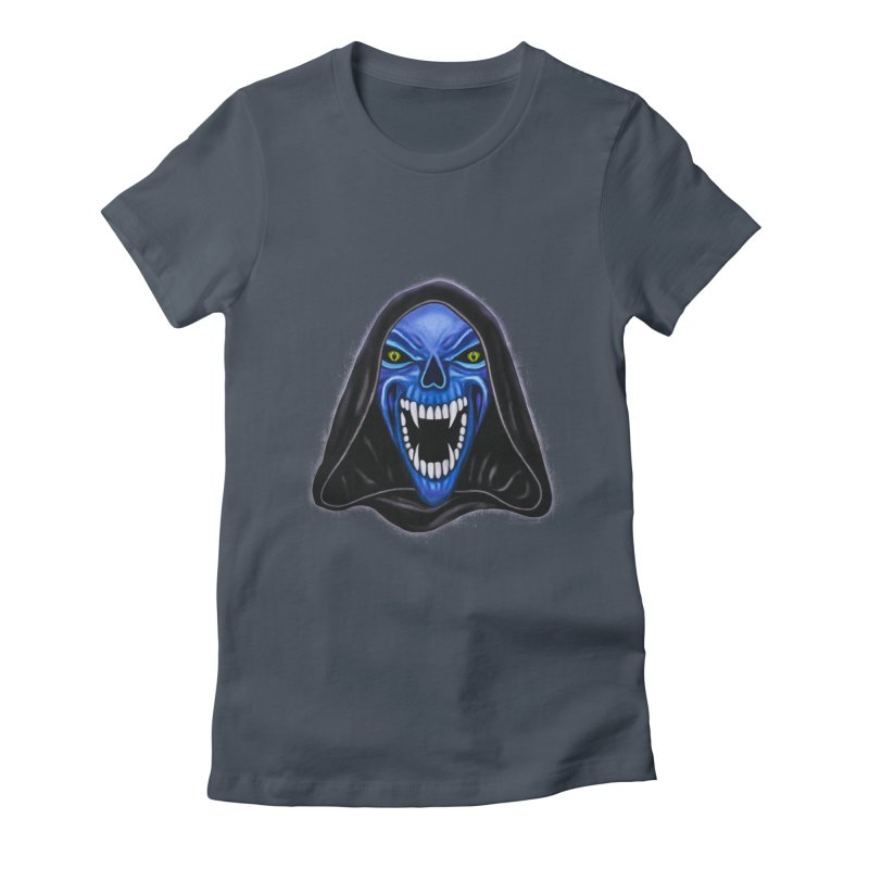 Blue Ghost Women's Fitted T-Shirt by Glitchway Store