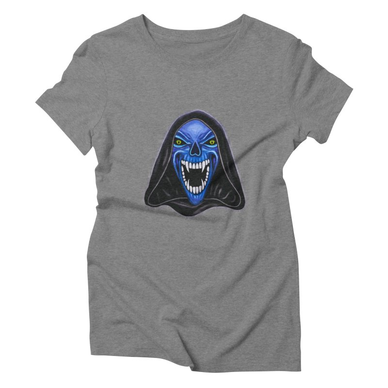 Blue Ghost Women's Triblend T-shirt by Glitchway Store
