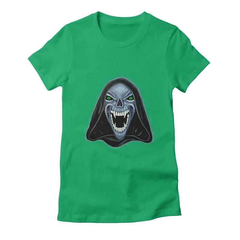 Ghost Darkness Women's Fitted T-Shirt by Glitchway Store