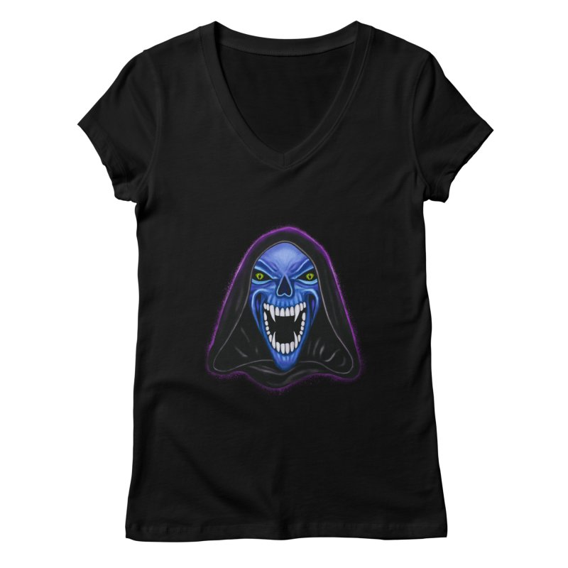 Ghost Women's V-Neck by Glitchway Store