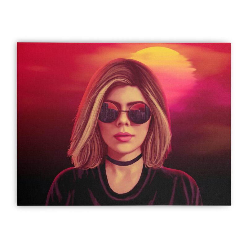 Blonde Home Stretched Canvas by Glitchway Store