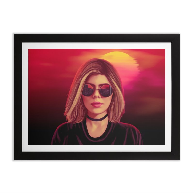 Blonde Home Framed Fine Art Print by Glitchway Store