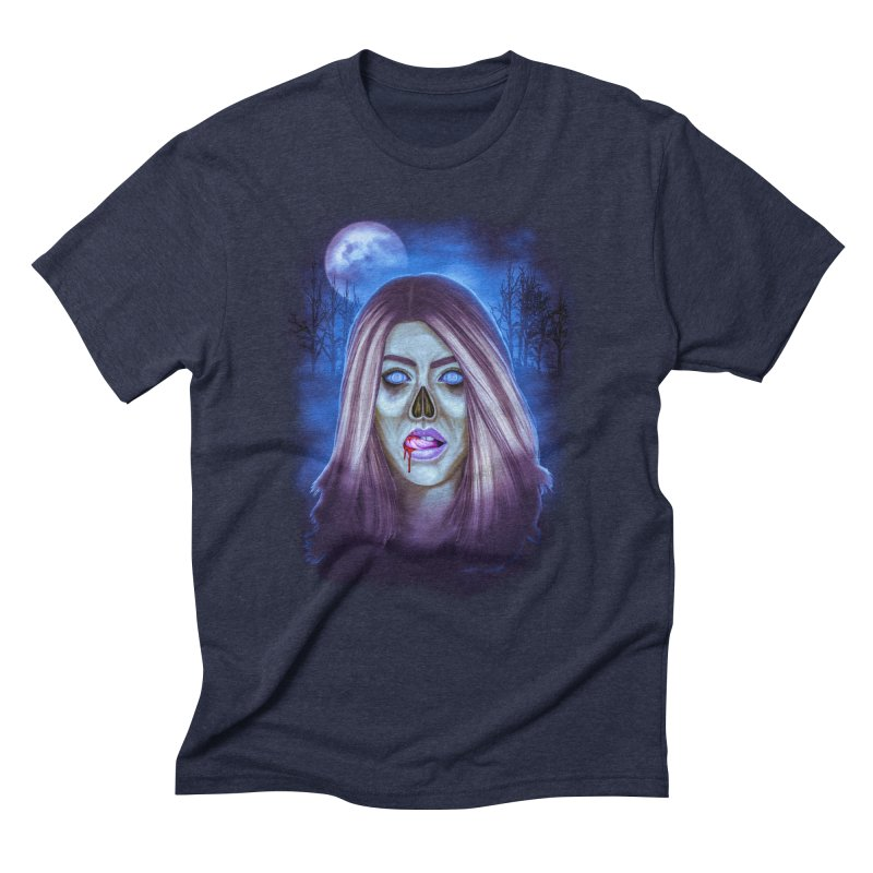 Undead Woman Men's Triblend T-shirt by Glitchway Store
