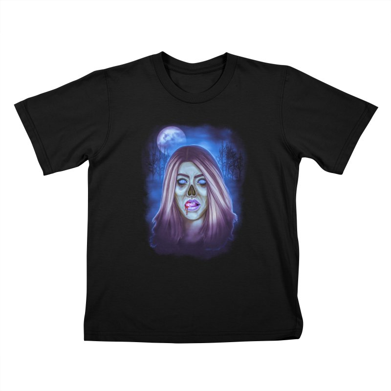 Undead Woman Kids T-Shirt by Glitchway Store