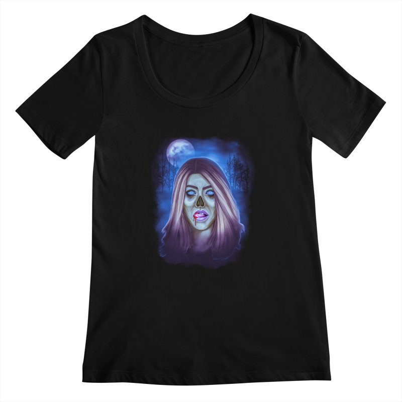 Undead Woman Women's Scoopneck by Glitchway Store