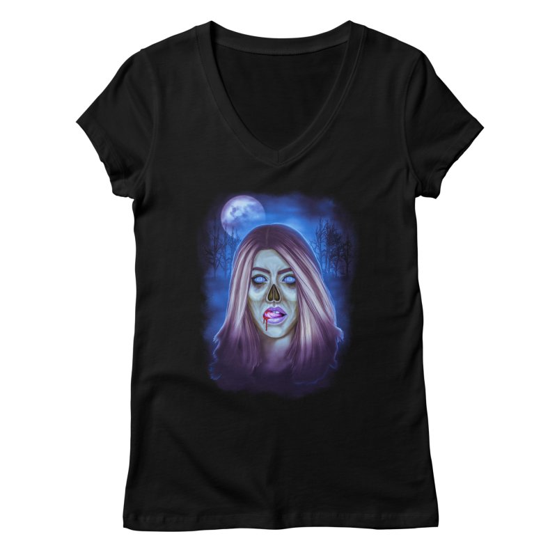 Undead Woman Women's V-Neck by Glitchway Store