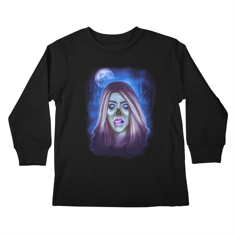 Undead Woman Kids Longsleeve T-Shirt by Glitchway Store