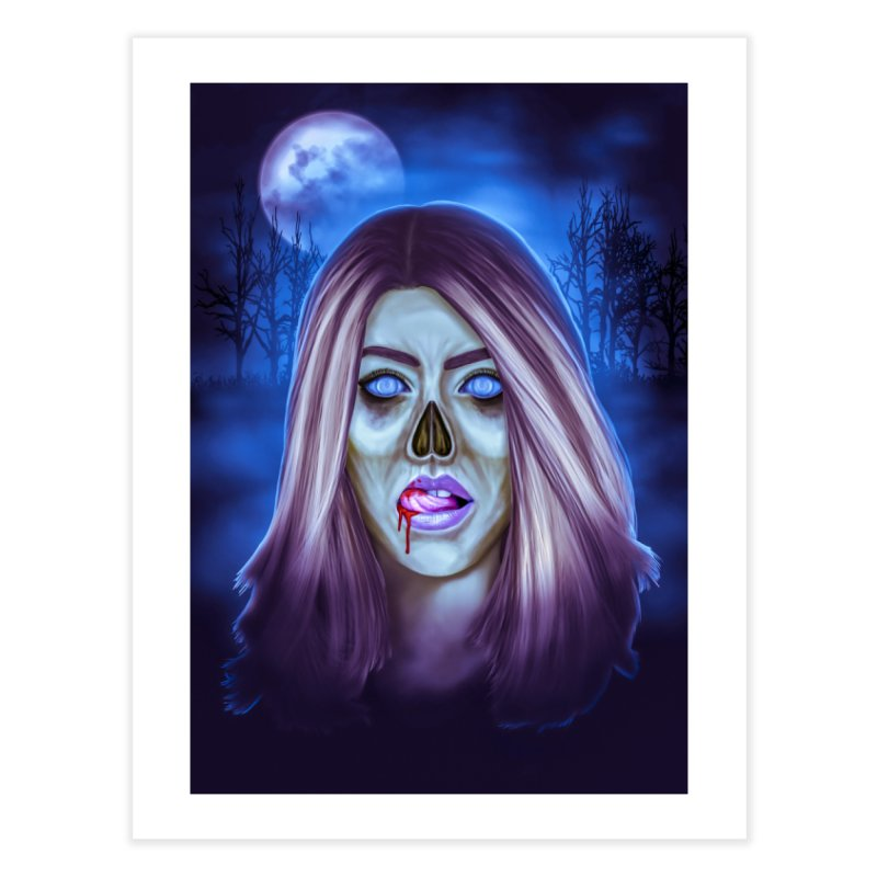 Undead Woman Home Fine Art Print by Glitchway Store