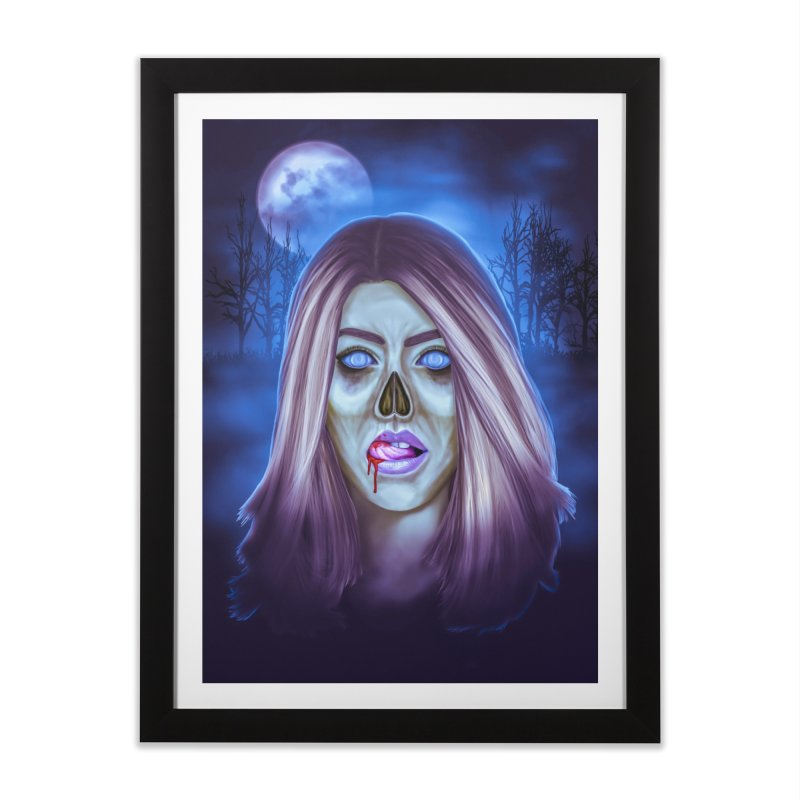 Undead Woman Home Framed Fine Art Print by Glitchway Store