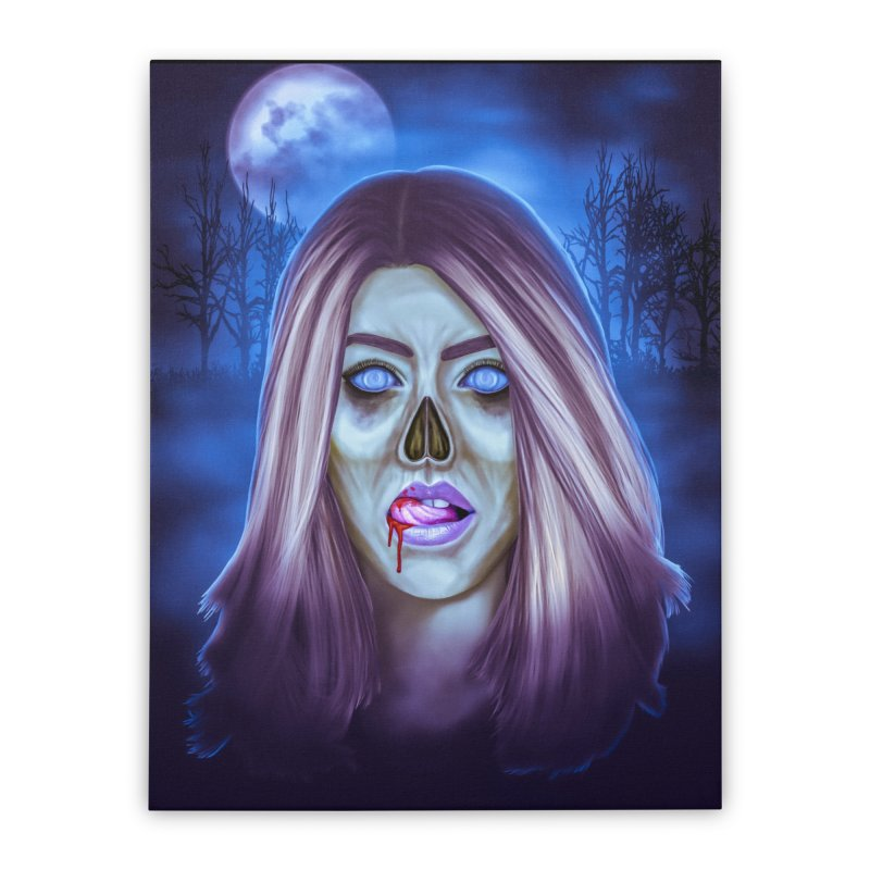 Undead Woman Home Stretched Canvas by Glitchway Store