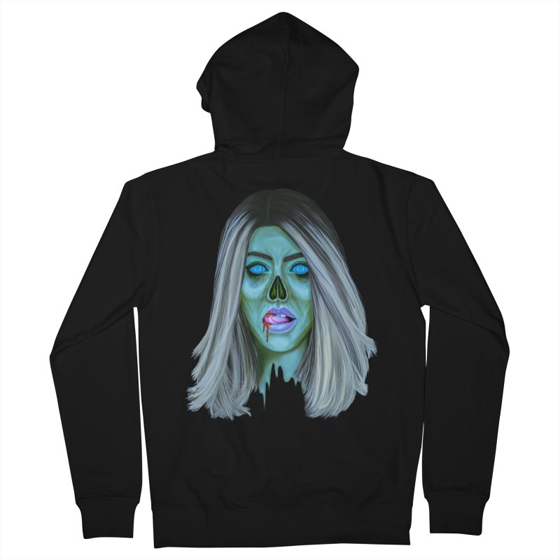 Undead Woman II Women's Zip-Up Hoody by Glitchway Store