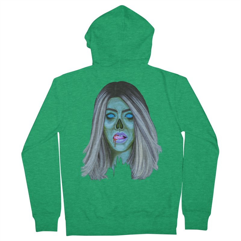 Undead Woman II Men's Zip-Up Hoody by Glitchway Store