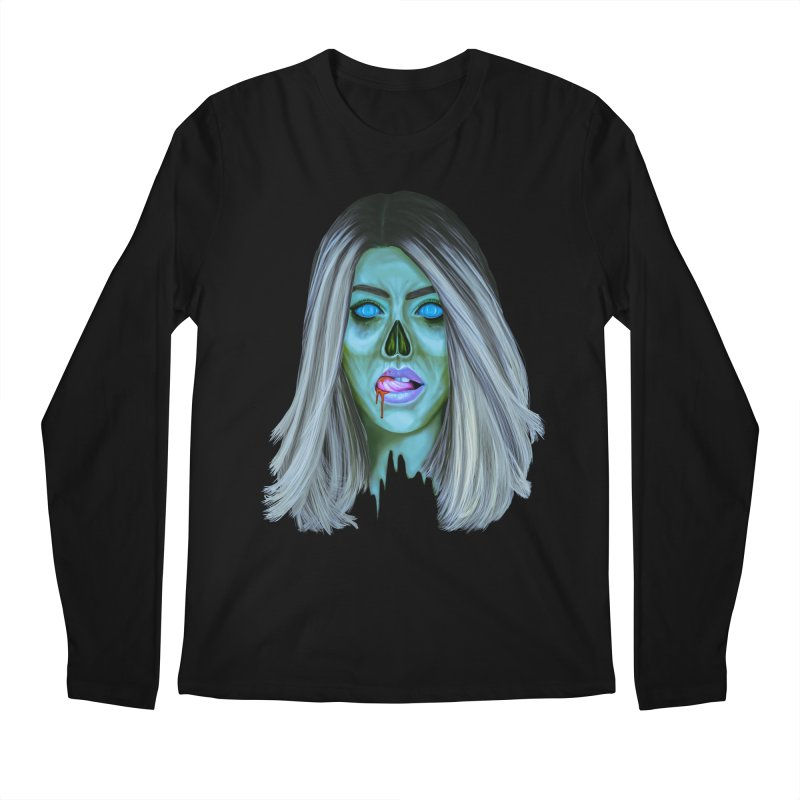 Undead Woman II Men's Longsleeve T-Shirt by Glitchway Store