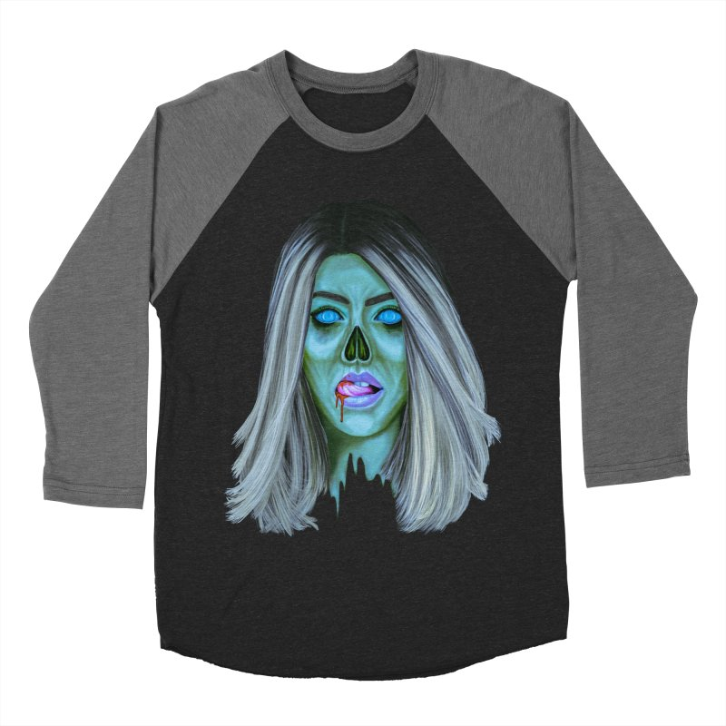 Undead Woman II Women's Baseball Triblend T-Shirt by Glitchway Store