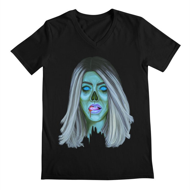 Undead Woman II Men's V-Neck by Glitchway Store