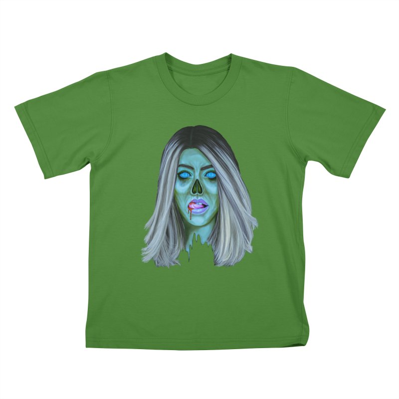 Undead Woman II Kids T-Shirt by Glitchway Store