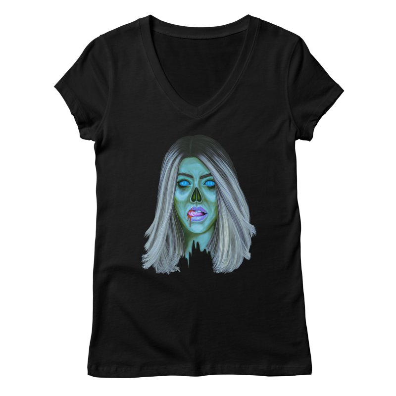 Undead Woman II Women's V-Neck by Glitchway Store