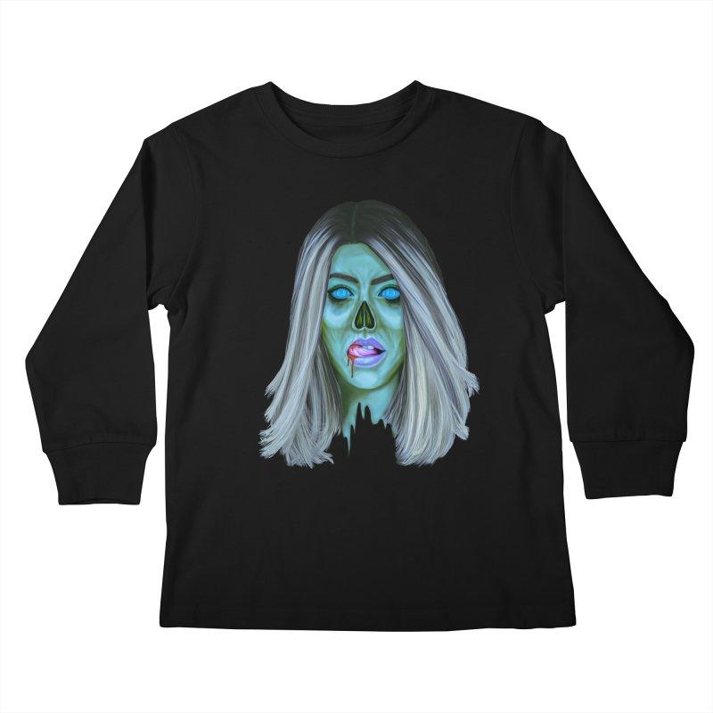 Undead Woman II Kids Longsleeve T-Shirt by Glitchway Store