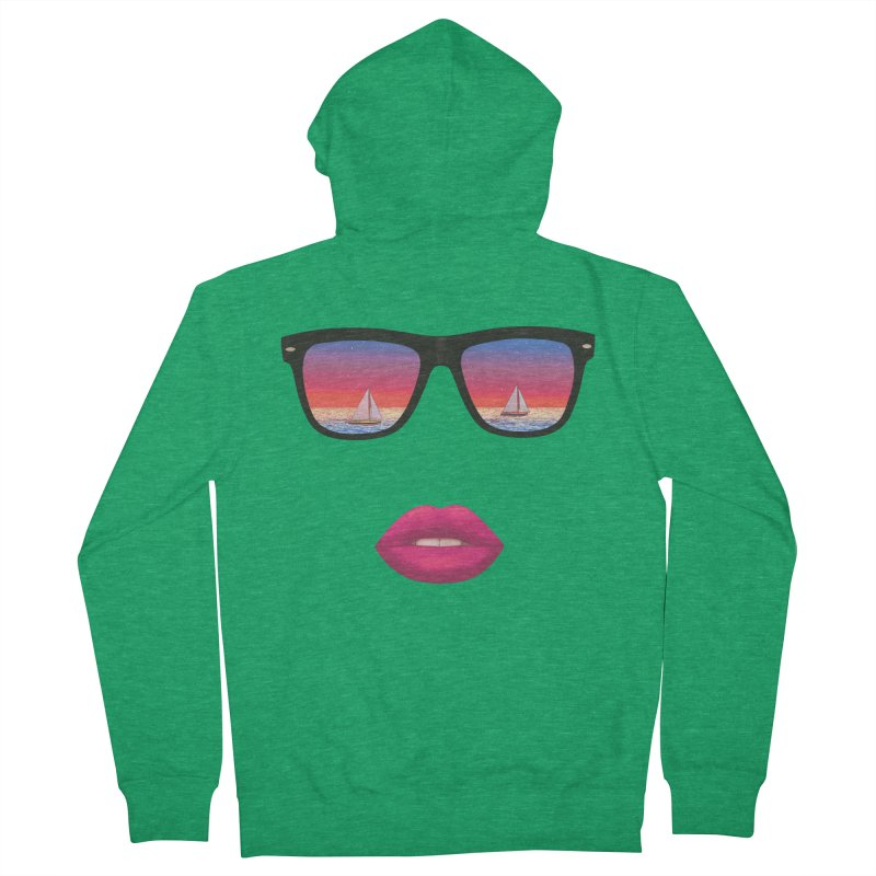 Sailing Dreams Women's Zip-Up Hoody by Glitchway Store